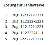 Lösung Zahlenreihe 1
