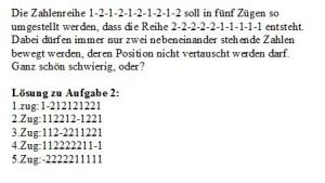 Zahlenreihe mit Lösung