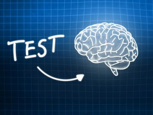 Test brain background knowledge science blackboard blue light