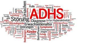 ADHS Wortgrafik, sie enthält keinen Hinweis auf Hochbegabung. Das entspricht den Verläufen in der Praxis, in denen ADS-förmiges Verhalten von Kindern als Gegensatz zu Hochbegabung angesehen wird. Obwohl gilt: ADS-Diagnostik muss immer ergänzt werden durch einen IQ Test.