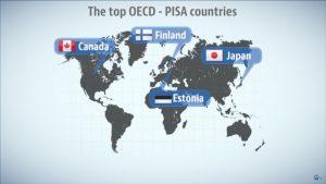 Die Staaten, die bei PISA am besten abgeschnitten haben